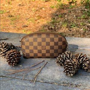 💯 Authentic Louis Vuitton Damier Ebene Pouch Case